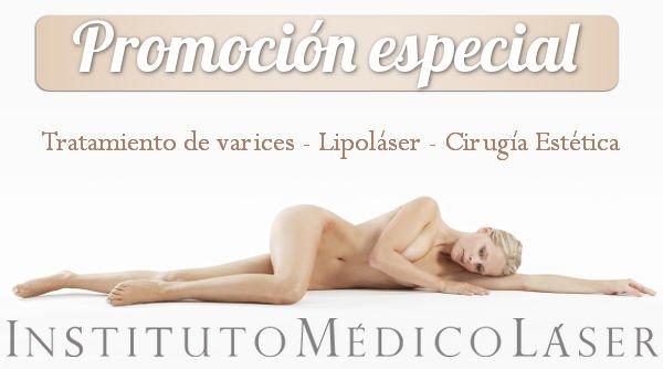 Promoción de IML para tratamiento de varices, Lipoláser y Cirugía Estética