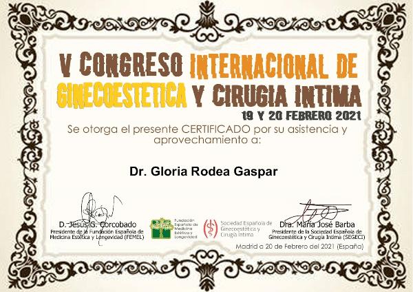 V Congreso Internacional de Ginecoestética y Cirugía Íntima